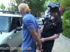 "Ashlyn Rae says ""You're under arrest! Now show me your dick!"""