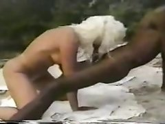 Jan B's Jamaican Beach Screw - interracial outdoor sex with cumshot