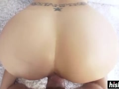 Big booty babe gets her cunt slammed